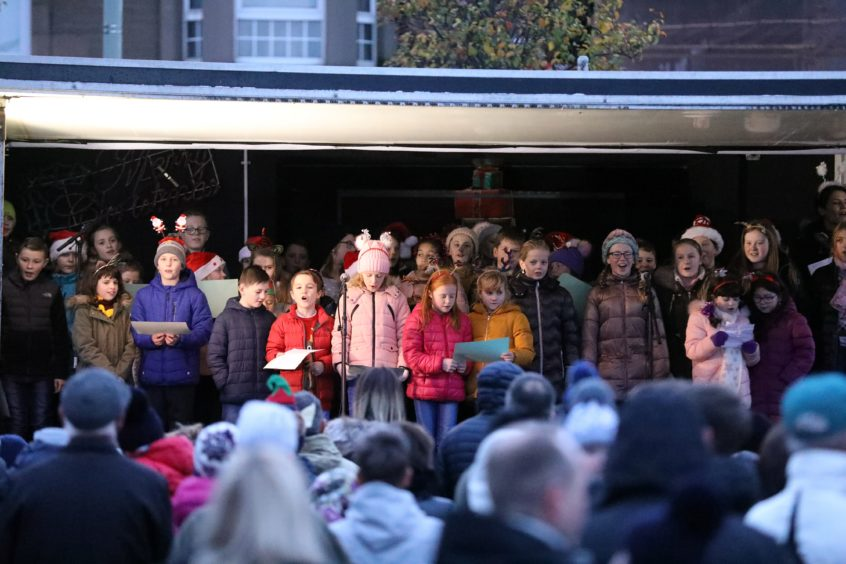 The Monifieth xmas lights switch on over the weekend.
