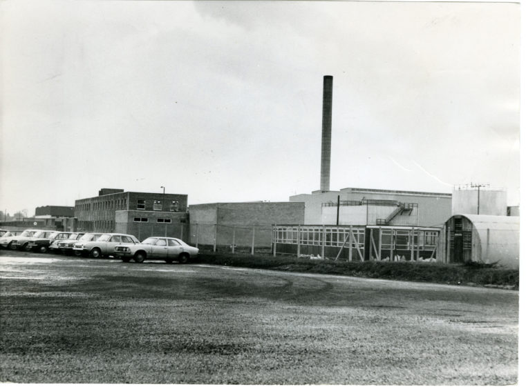 The Michelin Factory in Dundee on 12/05/1972.