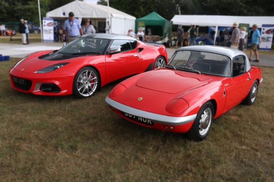 The Lotus Evora GT410 Sport and its historic 1962 Elan stablemate
