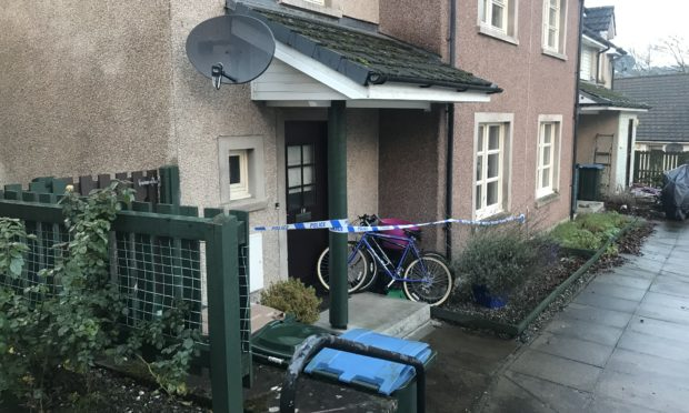 The Crieff property was sealed off by police.