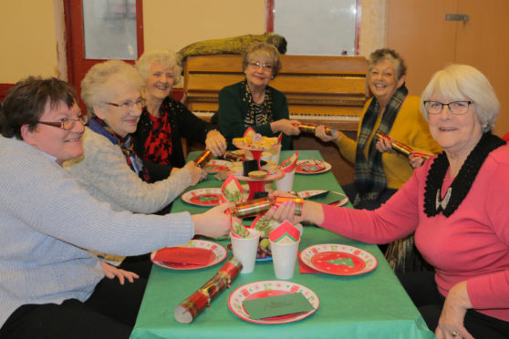Guests at the Christmas party