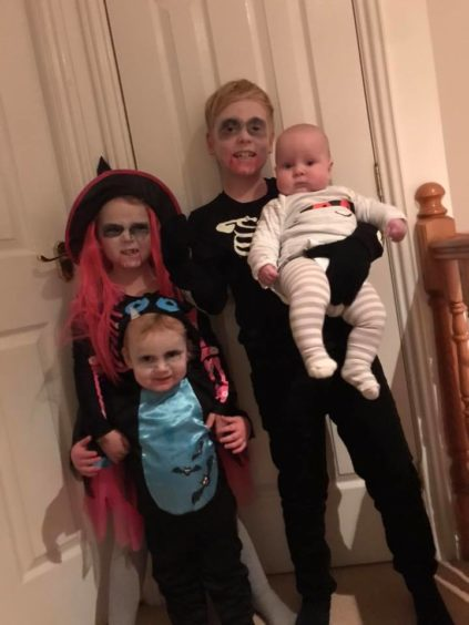 "Jenny McDonald sent in this photo of her ""scary wee gang""."