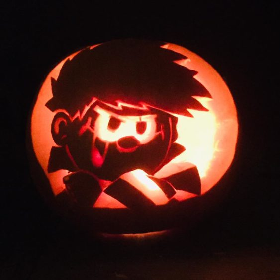 Not a costume, but we loved Joanna Hay's photo of a Dennis the Menace pumpkin.