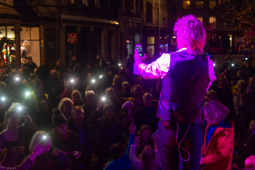 Simply Rod, James Frew, entertains the crowds.