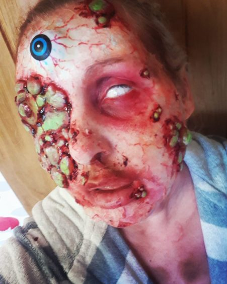 Katie Mackinnon of Perth sent this photo of some incredible Halloween make-up.