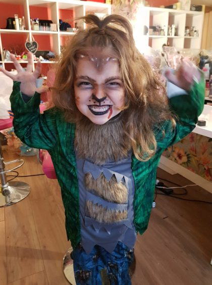 The full moon transformed Layla into a werewolf!