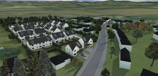 An artist's impression of the new housing development in Meigle.