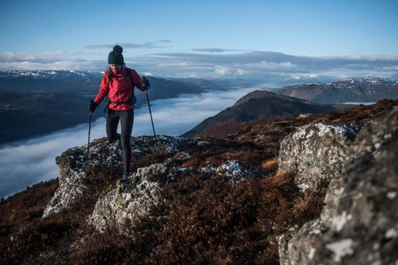 Jenny Tough above Loch Ness. Picture: Kelvin Trautmann.