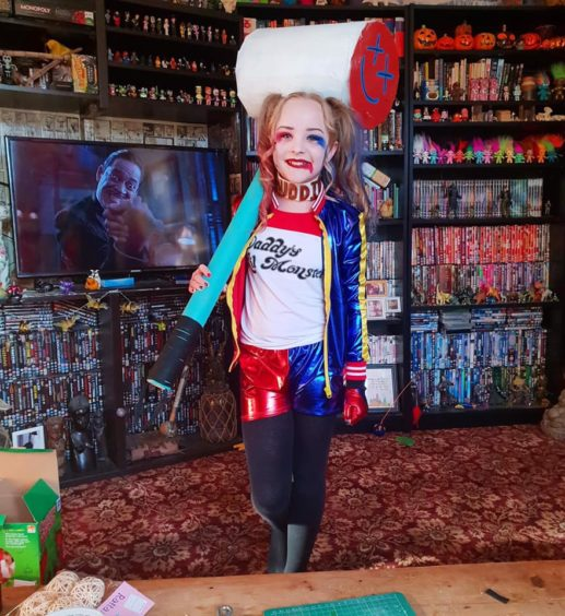 Lilly,10, got kitted out brilliantly as Harley Quinn.