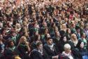 Graduates at last year's ceremony.