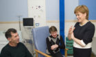 First Minister Nicola Sturgeon talks to patients and visitors as she opens the East of Scotland Major Trauma Centre at Ninewells Hospital in Dundee.