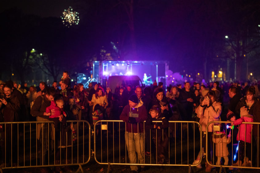 Thousands turned out for the Perth fireworks display.
