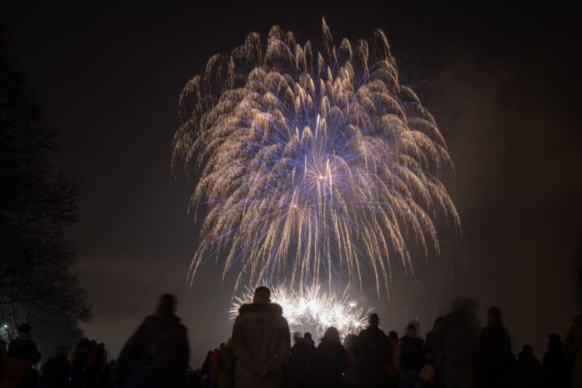 Thousands turned out for the Round Tables Annual Firework display in South Inch, Perth.