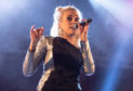 Pixie Lott performs on the Main Stage during the Christmas lights switch-on event. Pictures by Kenny Smith