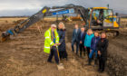 Sod cutting at long-awaited new GP surgery in Errol