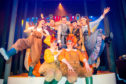 Cast members at the dress rehearsal for Snow White and the Seven Dames pantomime at Perth Theatre.