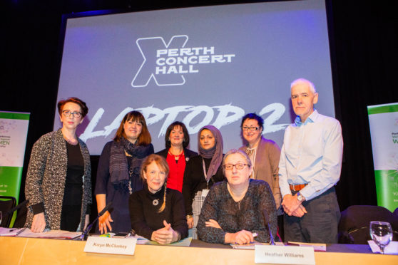 The panel for Perth's 16 Days of Activism Question Time event.