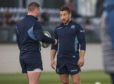 "Scotland's Greig Laidlaw admits he sometimes ""gives a little look"" to keep Finn Russell in check."
