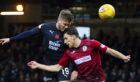 Benjamin Kallman in action for Dundee against St Mirren.