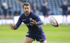 Scotland Captain Greig Laidlaw at yesterday's final training run.