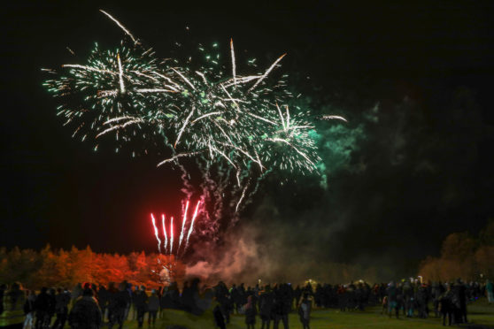 Friday's fireworks at Gilvenbank Park in Glenrothes