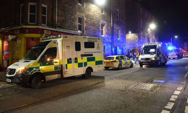 Firefighters at the scene. Picture: Stuart Cowper.