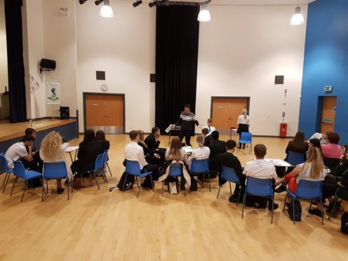 Pupils at St Paul's RC Academy taking part in Tomorrow's Talent.