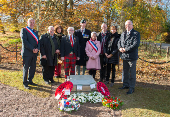 The commemorative stone was unveiled in St Martin's.