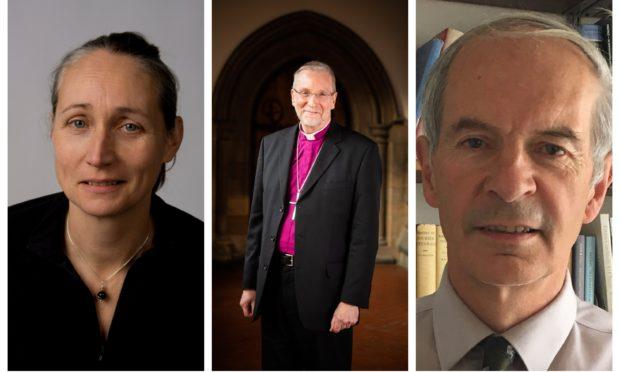 Prof Kate Storey, Rt Rev Ian Paton and Prof Kenneth Falconer.