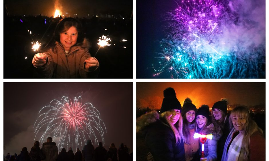 Thousands flocked to bonfire night displays in Dundee, Perth and Burntisland.