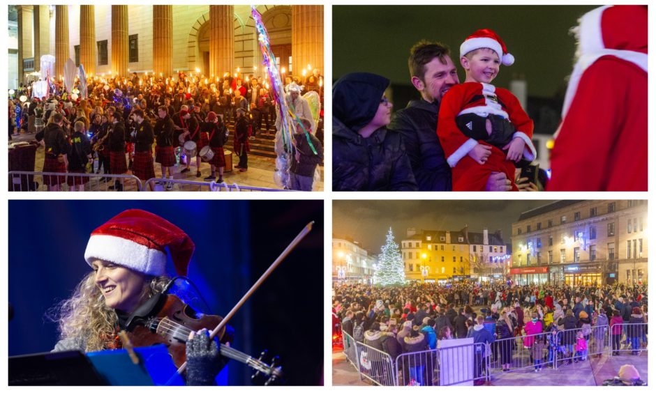 Dundee's 2018 Christmas lights switch-on event.