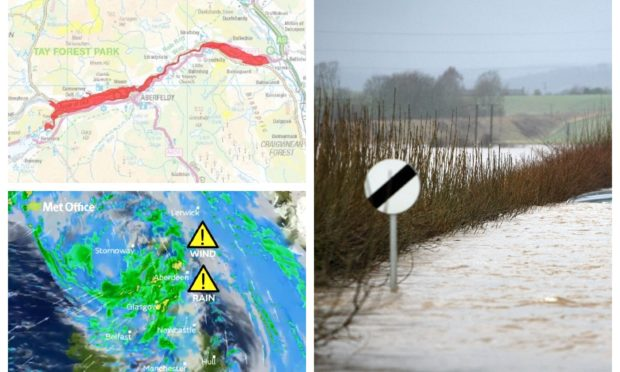 Flood warnings have been issued for parts of Perthshire.