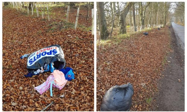 Auchmithie fly-tipping.