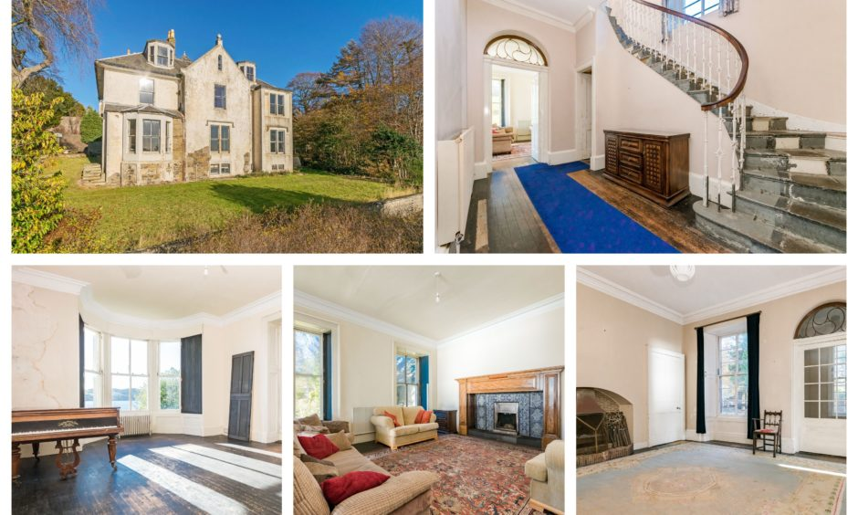 Harecraig House in Broughty Ferry has gone on the market.