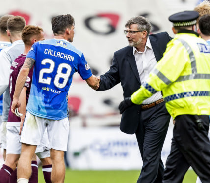 Hearts won the first game against St Johnstone this season.