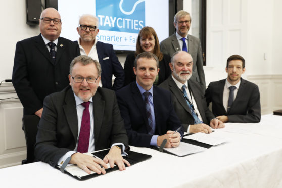 Signatories of the Tay Cities Deal in Perth