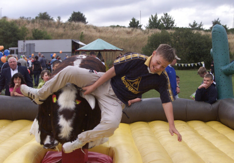 The bucking bronco at Michelin Athletic Club, Dundee, in August 2000.