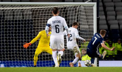 James Forrest makes it 2-1 to Scotland.