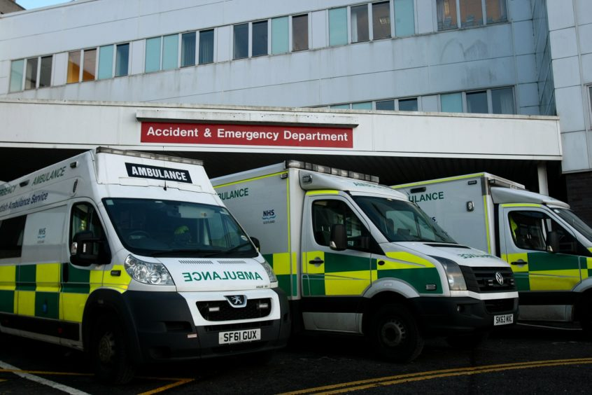 The Accident and Emergency Department at Ninewells Hospital.