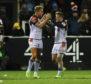 Duhan van der Merwe celebrates scoring the crucial second try at Kingston Park.