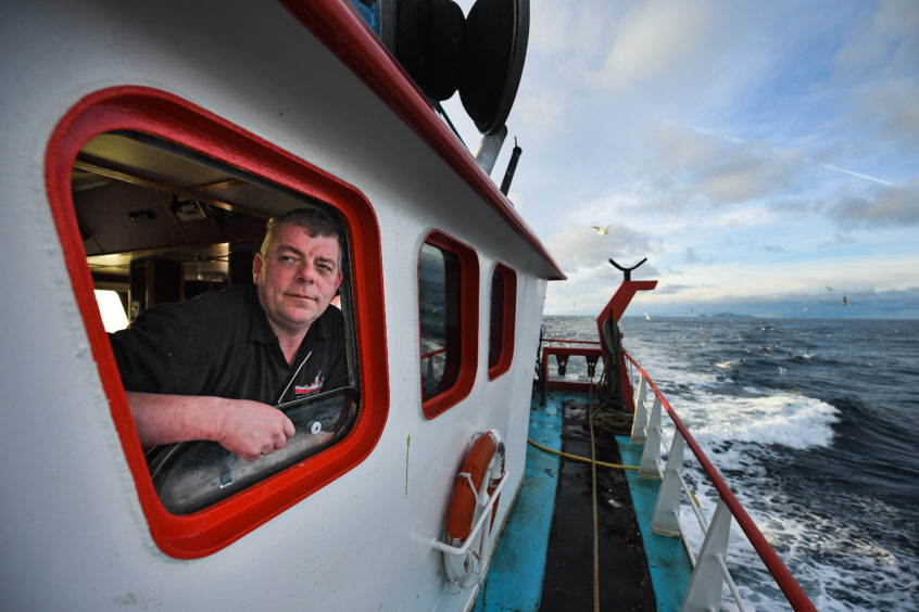 Victor Laurenson skipper of the Radiant Star fishing in the North Sea