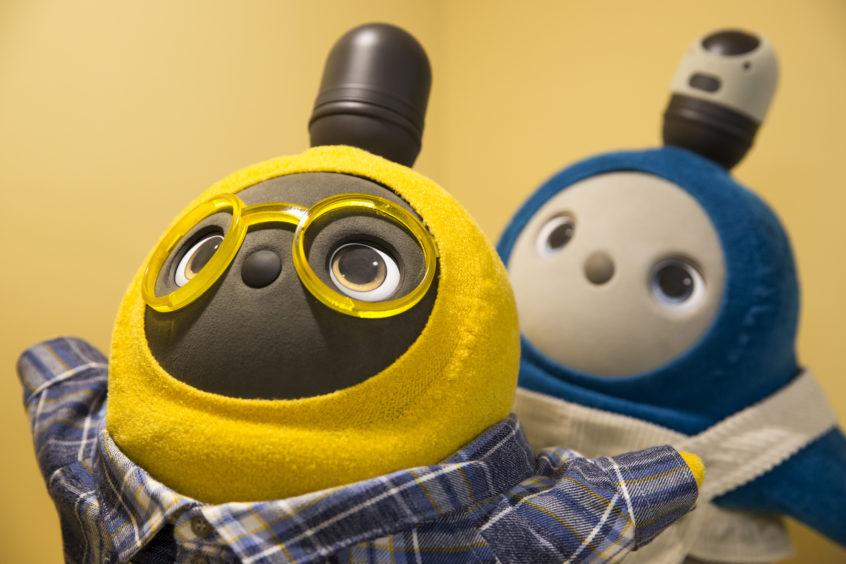 Lovot robots - The Minions meet Teletubbies.