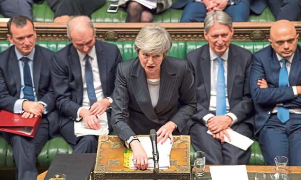 Prime Minister Theresa May during Prime Minister's Questions.