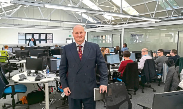 Castle Water CEO John Reynolds at the firms head office in Blairgowrie