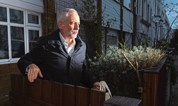 Leader of the Labour Party Jeremy Corbyn leaves his home on December 18, 2018.