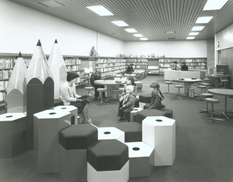 A picture of the children's library in the 1980s