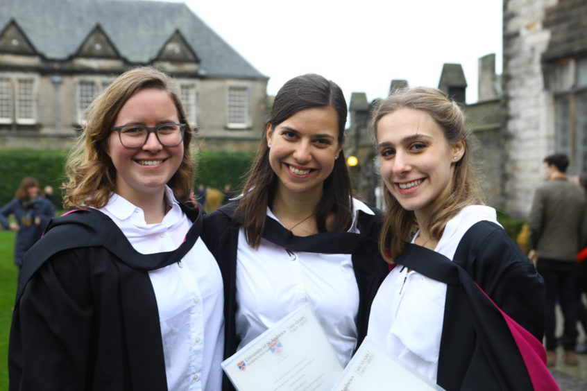 Jade Forsberg, Eszter Kolsis and Niki Joannides, graduates in Applied Statistics and Data Mining.