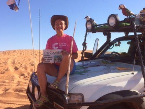 Debbie Proudfoot in the Simpson Desert, Australia.