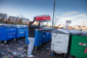 The Recycling point at Tesco, Duloch Park, where locals complained about fly tipping over the Christmas period.
