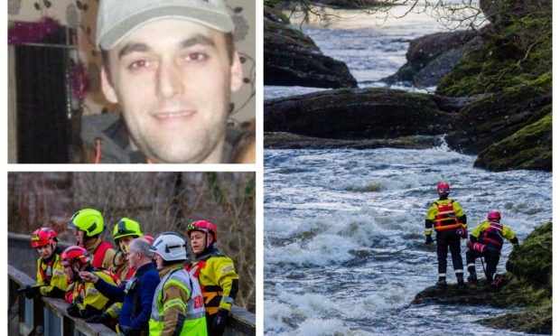 The search for Lee Brown took place on the River Ericht.
